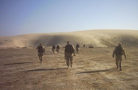 Fuseliers in de woestijn