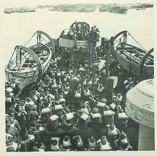 Irenemannen aan boord van een Liberty-ship