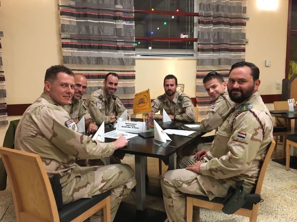 Officiersdiner in Mazar e Sharif