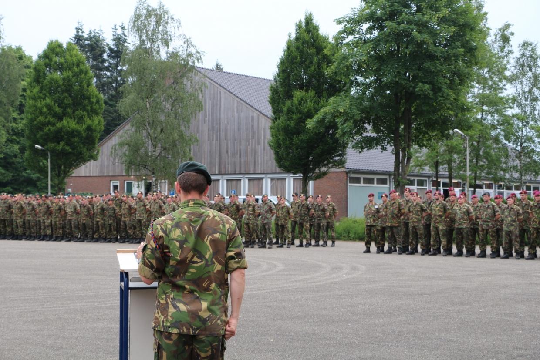 Garderegimenten opgesteld