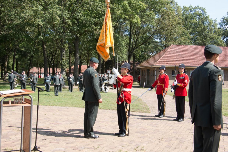 Bataljonsadjudant met Overste Gorissen