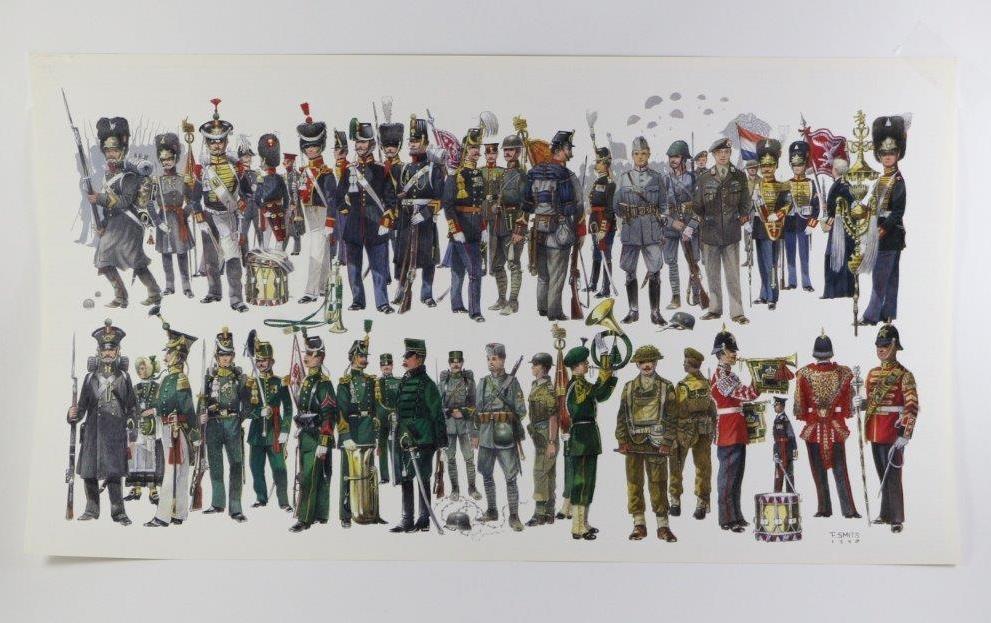 tekeningen nederlandse uniformen