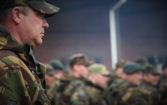 Aftredend Bataljonscommandant Luitenant-kolonel Nico Boom
